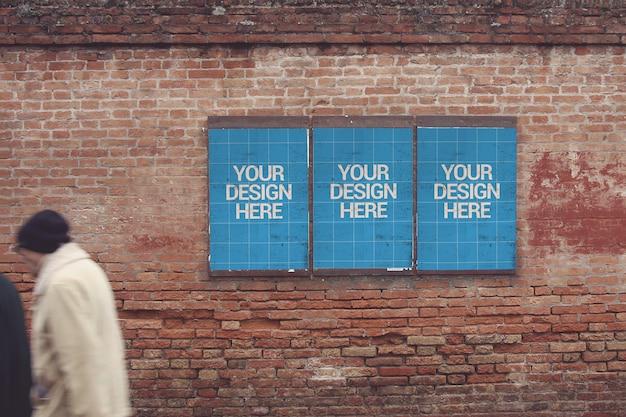 Maquete do cartaz da vista da parede frontal