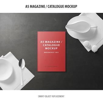 Maquete do catálogo de capas de revistas a5