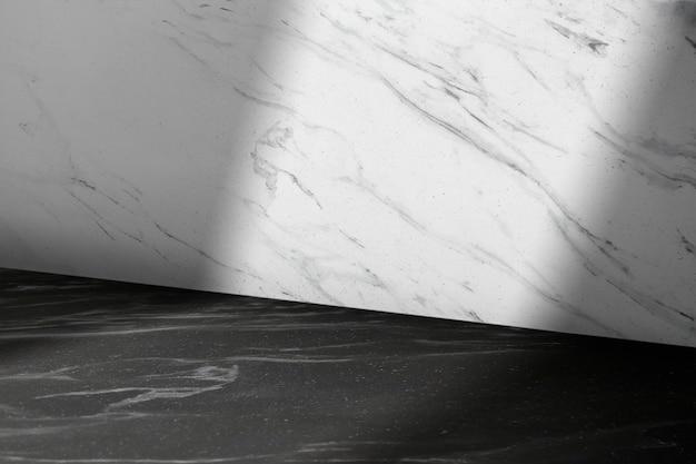 Maquete do cenário do produto em mármore psd com sombra