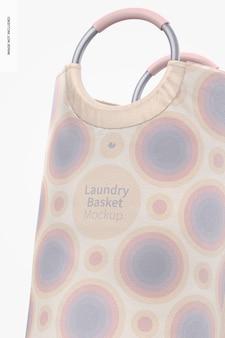 Maquete do cesto de roupa suja, close-up