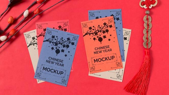 Maquete do conceito de ano novo chinês