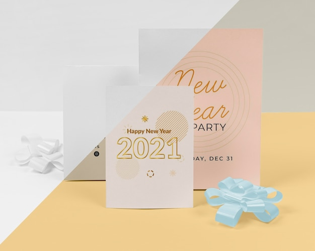 Maquete do conceito de ano novo