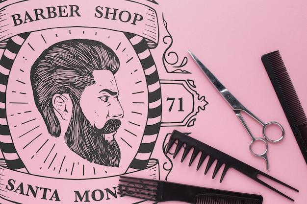 Maquete do conceito de barbearia
