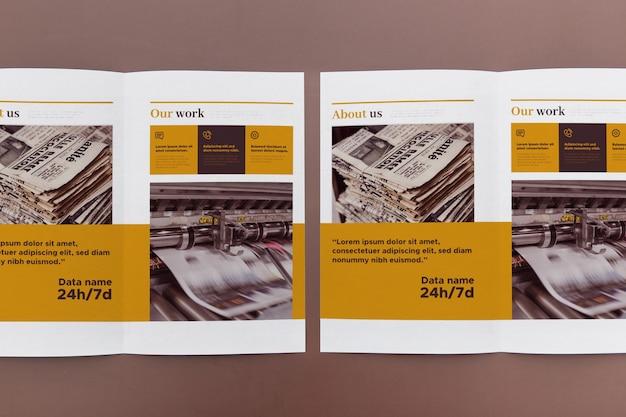 Maquete do conceito de brochura