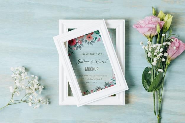 Maquete do conceito de casamento floral
