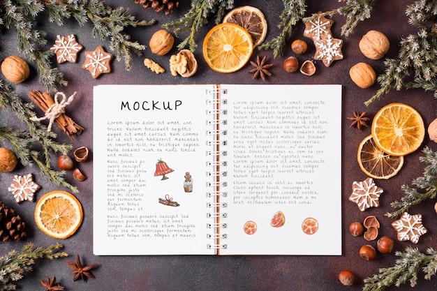 Maquete do conceito de comida de natal