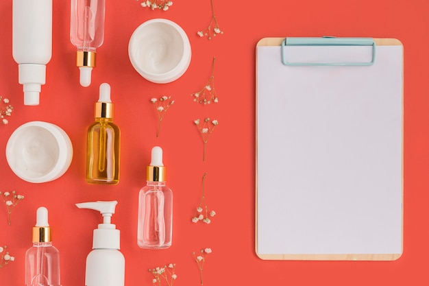 Maquete do conceito de cosméticos naturais