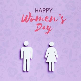 Maquete do conceito de dia da mulher