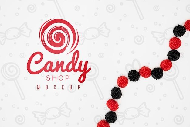Maquete do conceito de doces deliciosos