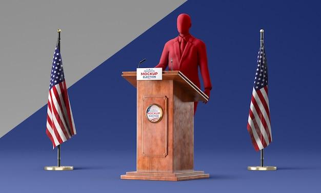 Maquete do conceito de eleições americanas