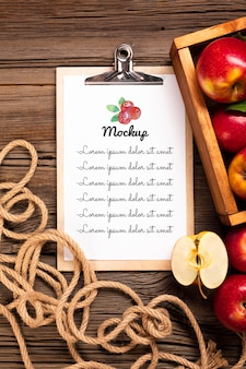 Maquete do conceito de frutas deliciosas