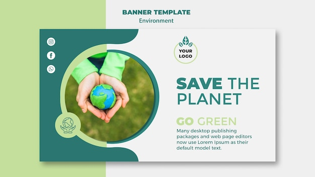 Maquete do conceito de meio ambiente