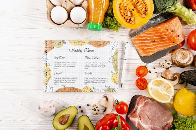 Maquete do conceito de menu delicioso