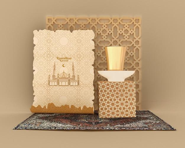 Maquete do conceito de ramadan kareem