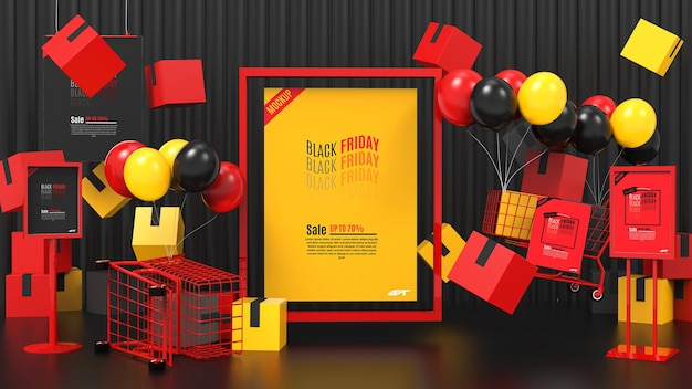 Maquete do conceito de venda black friday