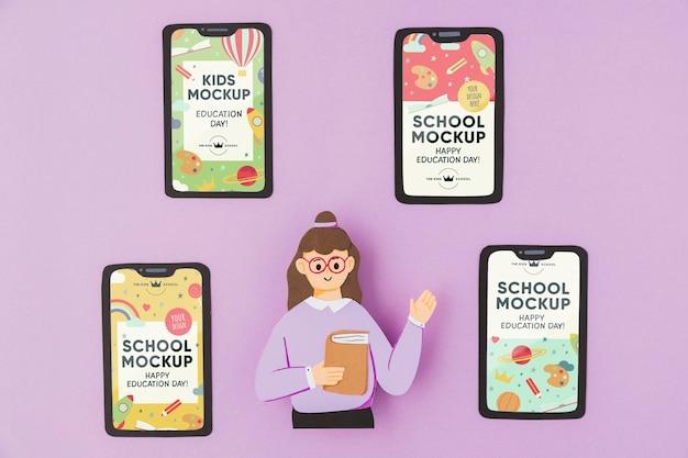 Maquete do conceito do dia da educação