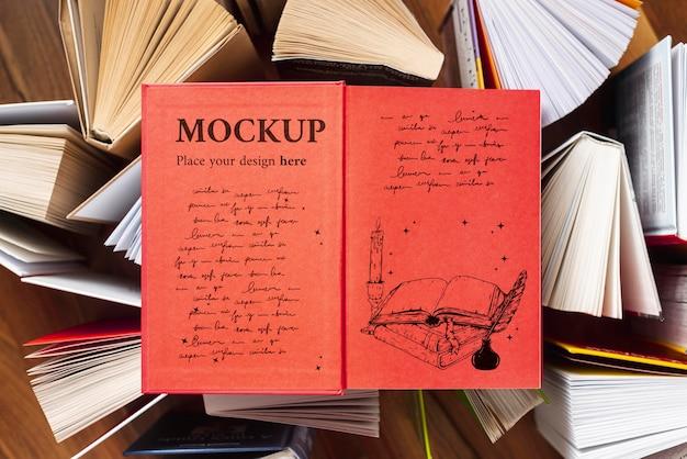 Maquete do conceito do dia mundial do livro