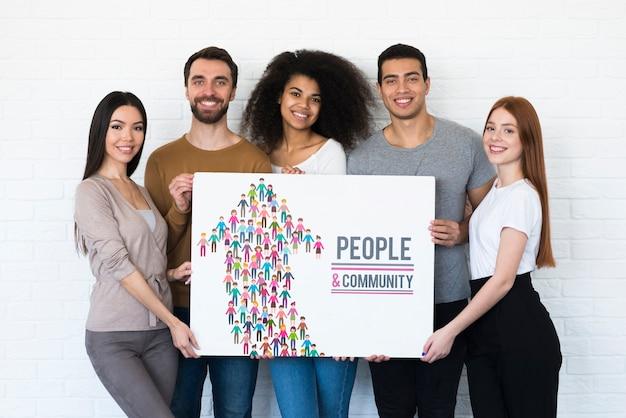 Maquete do conceito étnico comunitário