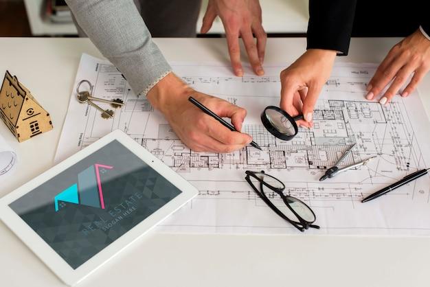 Maquete do conceito imobiliário