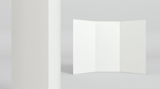 Maquete do conceito pop de papel