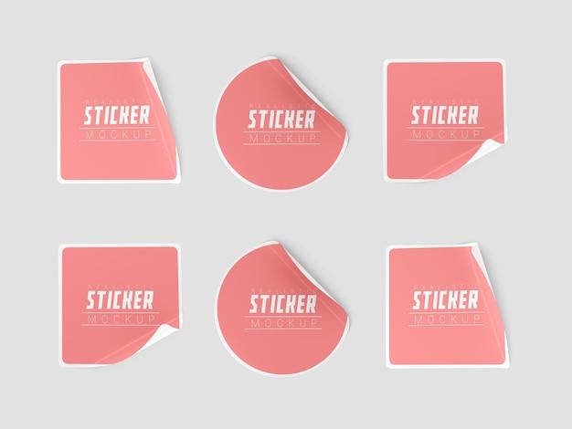 Maquete do conjunto de adesivos