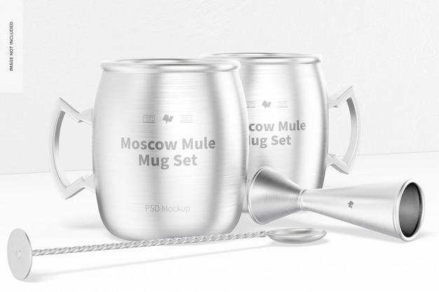 Maquete do conjunto de caneca moscow mule