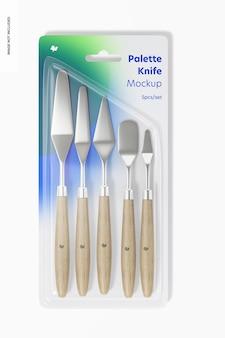 Maquete do conjunto de faca de paleta, vista superior