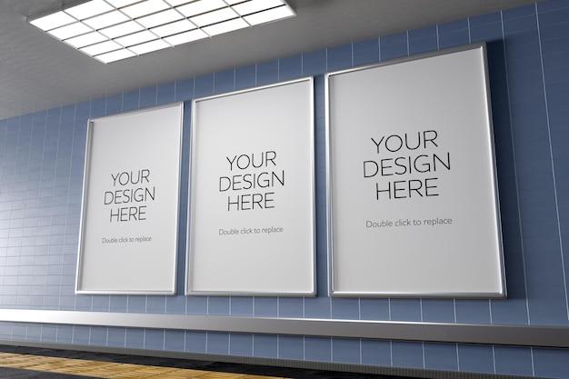 Maquete do corredor do pôster do metrô