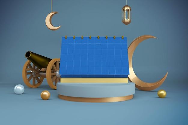 Maquete do design do calendário do ramadã