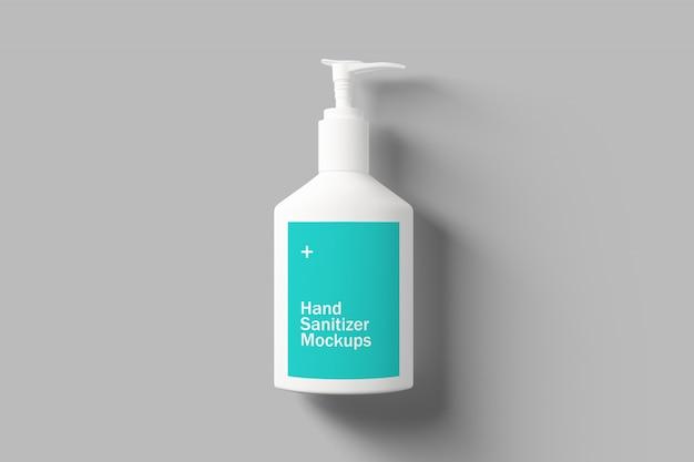 Maquete do desinfetante para as mãos