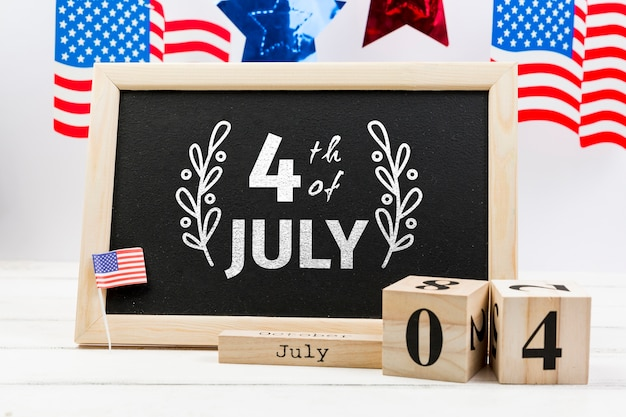 Maquete do dia da independência com ardósia