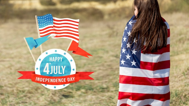 Maquete do dia da independência com copyspace