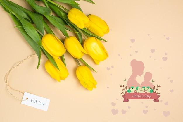 Maquete do dia das mães com copyspace