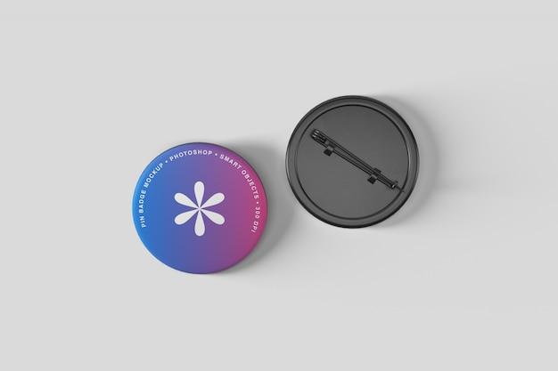 Maquete do emblema do botão de pin