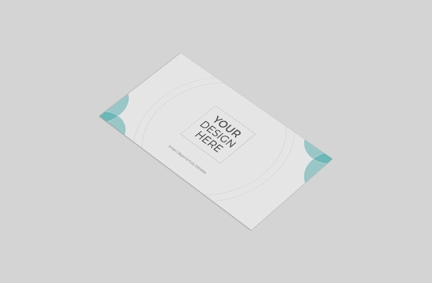 Maquete do envelope da frente