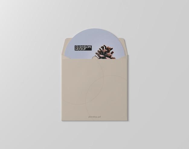 Maquete do envelope de cd