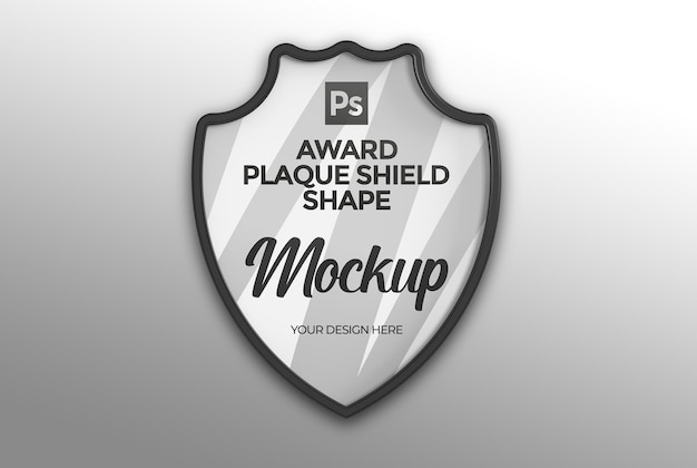Maquete do escudo da placa do prêmio