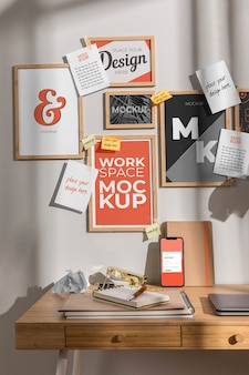 Maquete do espaço de trabalho