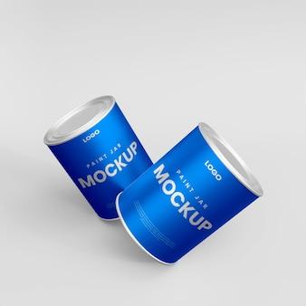 Maquete do frasco 3d para pequenas dores de metal