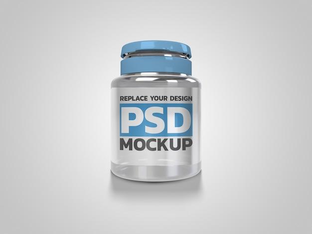 Maquete do frasco de medicamento design de renderização em 3d