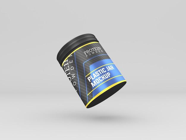 Maquete do frasco de proteína em pó