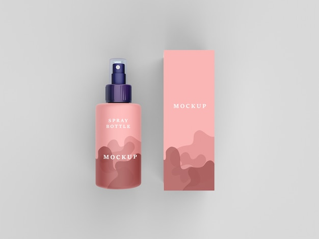 Maquete do frasco de spray