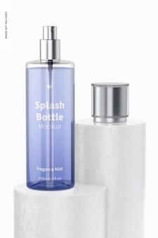 Maquete do frasco respingo de 250 ml, na superfície