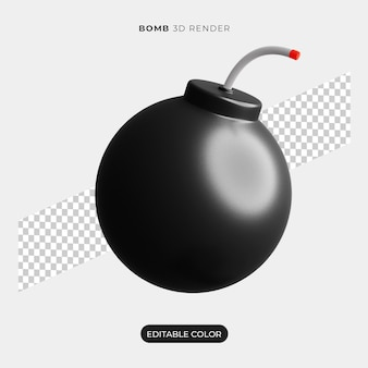 Maquete do ícone da bomba 3d isolada
