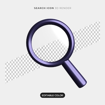 Maquete do ícone de pesquisa 3d isolada