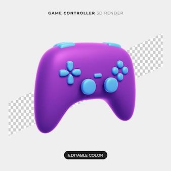 Maquete do ícone do controlador 3d isolada
