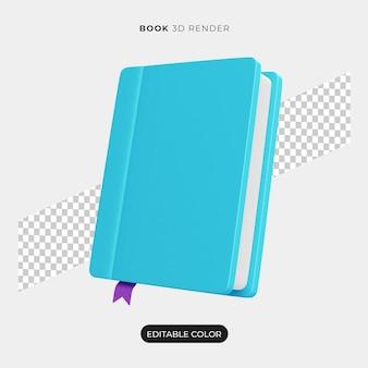 Maquete do ícone do livro 3d isolada