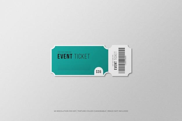 Maquete do ingresso para o evento de inauguração