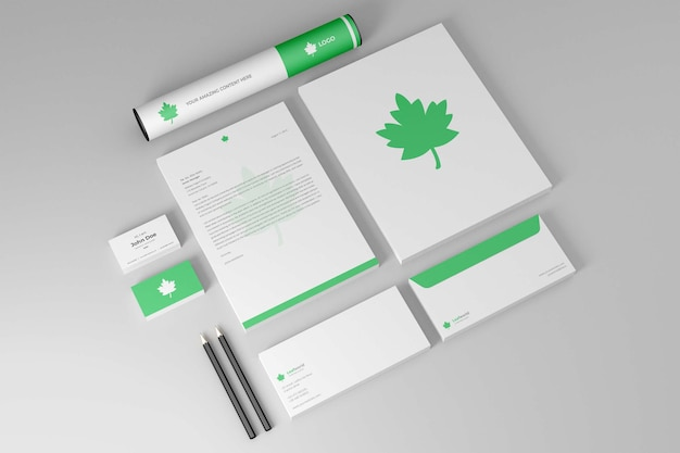 Maquete do kit de branding