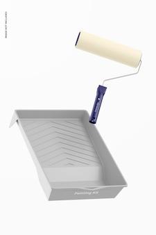 Maquete do kit de respiração ofegante, flutuante